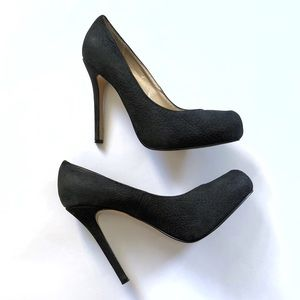 Steve Madden black suede leather stiletto heels